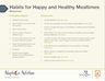 Habits for Happy and Healthy Mealtimes Resources
