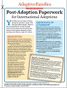 Post-Adoption Paperwork for International Adoptions